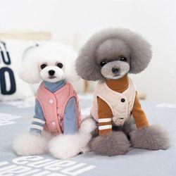강아지옷 고양이옷 깔깔이 누빔 퀄팅 조끼 애견 패딩
