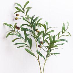뉴올리브가지 92cm FAIAFT 조화 꽃 그린 녹색 조화 인테리어