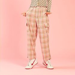 NEONDUST 20SP Check Pants - PINK