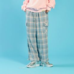 NEONDUST 20SP Check Pants - BLUE