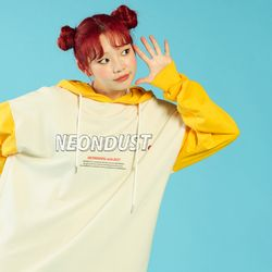 NEONDUST 2Color Hood - YELLOW+IVORY