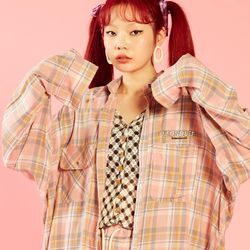 NEONDUST 20SP Check Shirt - PINK
