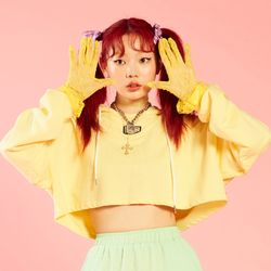 NEONMOON Crop Hood - YELLOW