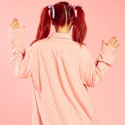 NEONMOON 20SP Check Shirt - PINK HEART