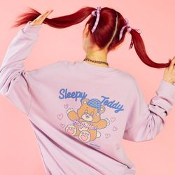 NEONMOON 20SP Teddy Sweat Shirt - PURPLE