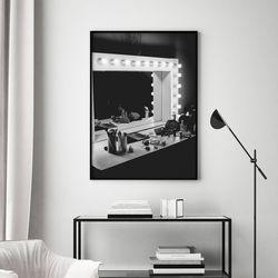 메이크업룸 패션 그림 인테리어 A3 포스터+알루미늄액자
