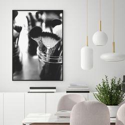 흑백브러쉬 패션 그림 인테리어 A3 포스터+알루미늄액자