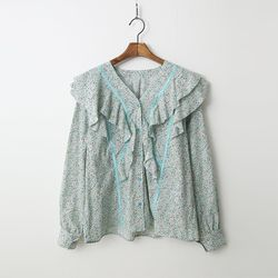 Sonia Frill Floral Blouse