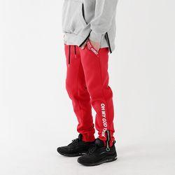 God Thanks Zipup Pants Red