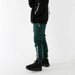 God Thanks Zipup Pants Deep Green