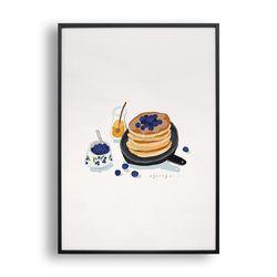 블루베리 팬케이크