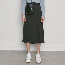 W3327 WJ-hb basic skirt black