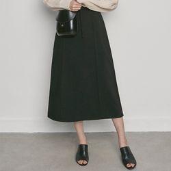 W3327 WJ-jg long skirt black