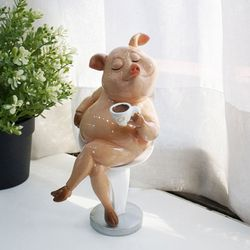 커피 요리 핑크 돼지 (2type)