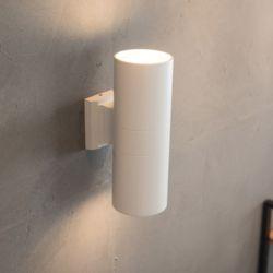 실린더 2등 벽등 화이트 [LED벌브 램프포함]