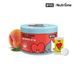 BT21 멀티비타민 츄어블 1500mg x 60정 복숭아맛