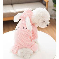 강아지옷 고양이옷 토끼 올인원 원피스 후드 겨울옷 애견의류
