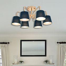 말리 6등 LED 갓 페브릭 직부 거실등 조명 램프포함