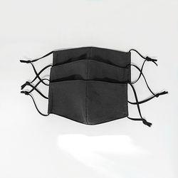 고밀도 면마스크 3D입체마스크 블랙마스크 3개 1set 베이직
