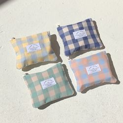 check mini pouch ( 4colors )