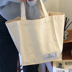 natural cotton bag ( cream )