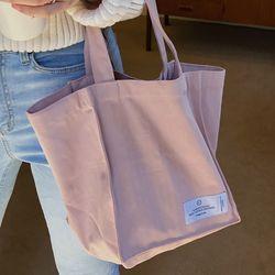 naturla cotton bag ( pink )