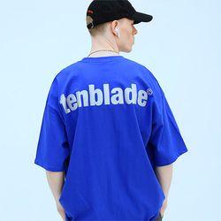 로고 리플렉티브 반팔 티셔츠 버전2-블루
