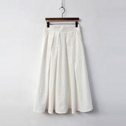Cotton Swing Pleated Skirt