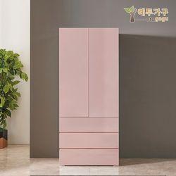 예투가구 보우터치 3단서랍옷장800 - 핑크