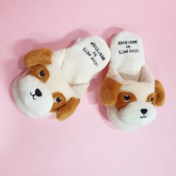 Love Pet Squeaky Beagle slipper 비글슬리퍼바스락삑삑
