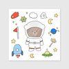 고미베어 우주 인쇄소 스티커
