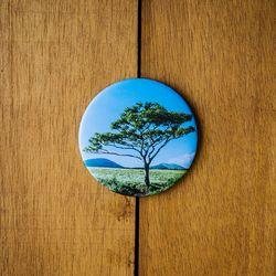 제주 놀멍쉬멍 손거울 - 나홀로나무