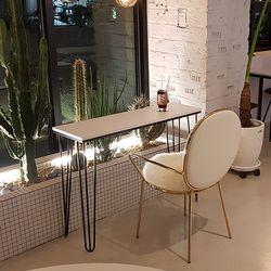 스틸 슬림 사이드 테이블 1200X400 C