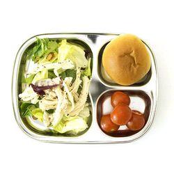 스텐 3구 간식 다이어트 유아 아기 어린이집 식판