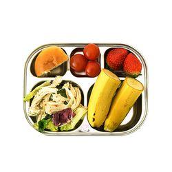 스텐 5구 일자형 어린이집 유치원 유아 아기 식판 다이어트식판