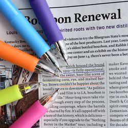 5way Color Pen (형광피치 형광옐로우 블랙 블루 레드 5색심)