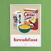 씨리얼 아침식사 M 유니크 인테리어 디자인 포스터 A3(중형)