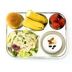 스텐 낮은 유치원 어린이집 다이어트 배식 식판