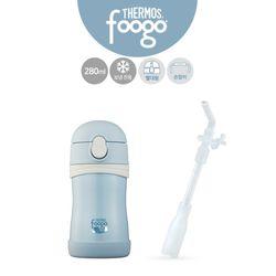 유아용 빨대컵(TKFB-280S)+리필빨대 블루