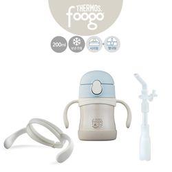 유아용 2way베이비보틀(TKFA-200S)+핸들+리필빨대 블루