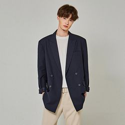 LIGHT DOUBLE BLAZER [NAVY]