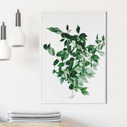 프레쉬리프 식물 액자 A3 포스터+알루미늄액자