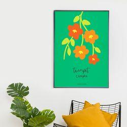 능소화 봄 인테리어 A3 아트포스터 꽃그림