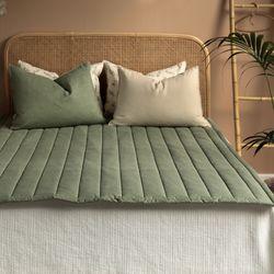먼지없는 코코 미끄럼방지 침대패드 누빔패드(Q)