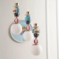 서커스 3등 펜던트(LED전구포함)아이방 키즈 조명