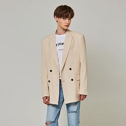 LIGHT DOUBLE BLAZER [LIGHT BEIGE]