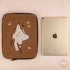 자수포켓 노트북파우치 하늘을 날다람쥐 (아이패드)