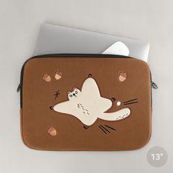 자수포켓 노트북파우치 하늘을 날다람쥐 (13인치)