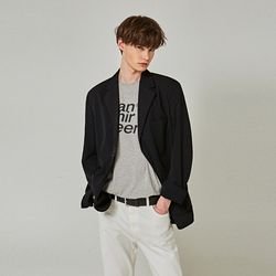PLAIN OVER SINGLE BLAZER [BLACK]
