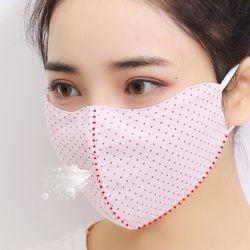 3D 입체 패턴 밀착 면마스크 숨쉬기 편한/빨아쓰는 순